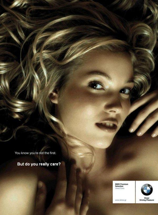Реклама подержанных автомобилей BMW