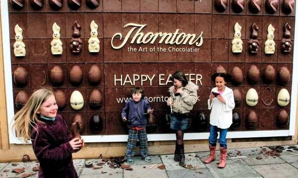 Thorntons: Съедобный шоколадный билборд