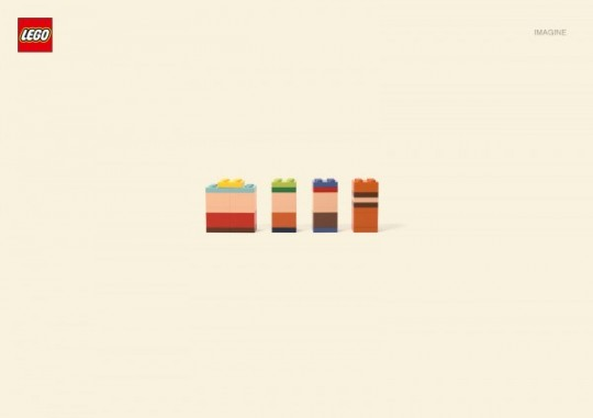 Минимализм от LEGO, персонажи мультфильмов