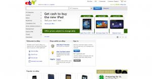 Главная страница интернет-аукциона eBay