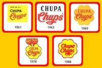 Эволюция логотипов «Chupa Chups»