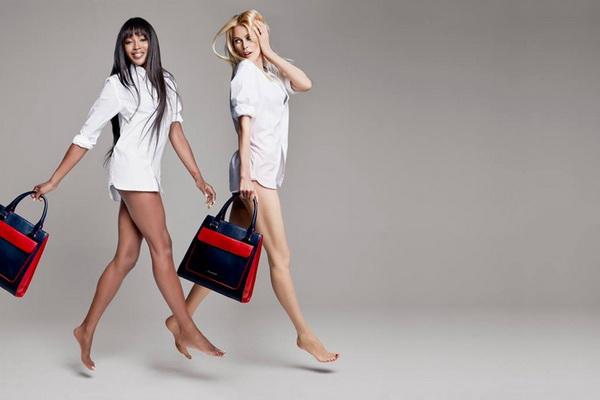 Молоко и шоколад: Наоми Кемпбелл и Клаудия Шиффер снялись в рекламе Tommy H ...