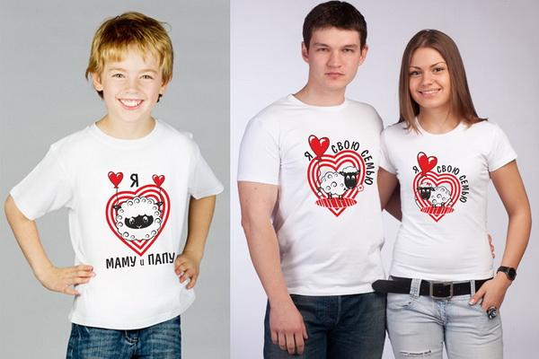 Выбираем стильные футболки для всей семьи